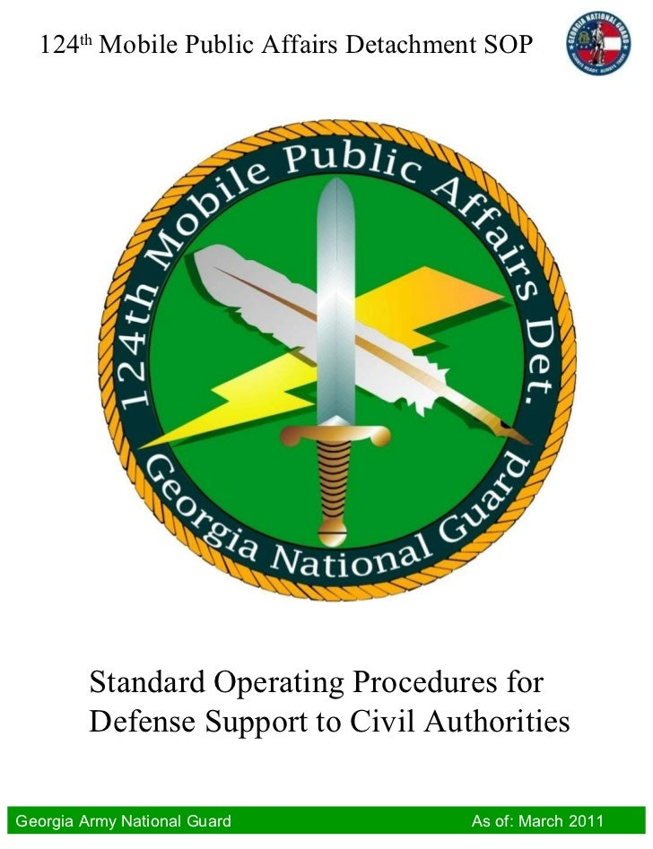 Standard Operating Procedures for Defense Support to Civil Authorities