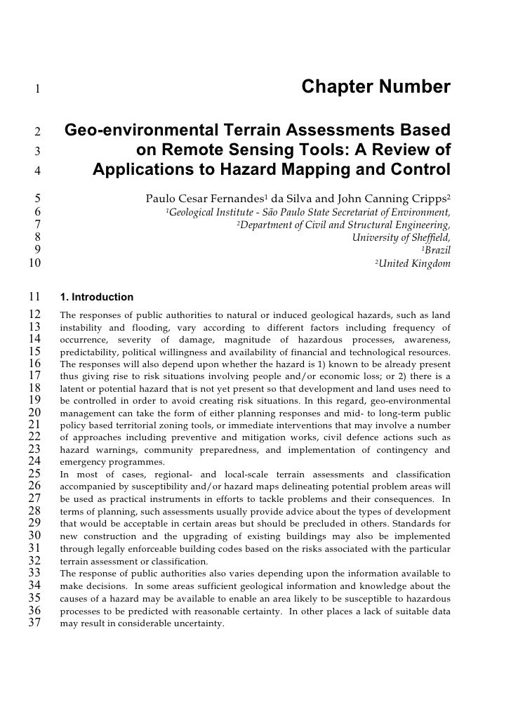 1                                                              Chapter Number 2    Geo-environmental Terrain Assessments B...