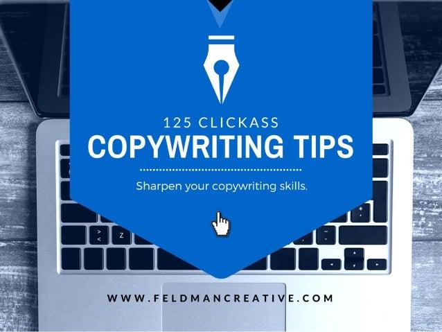 """125 CLICKASS  """"'. '.. _.'_T. W.j. ?""""¥. .'. ._T. !.Ff§_'. _F? ... _T'P3  Sharpen your copywriting skills."""