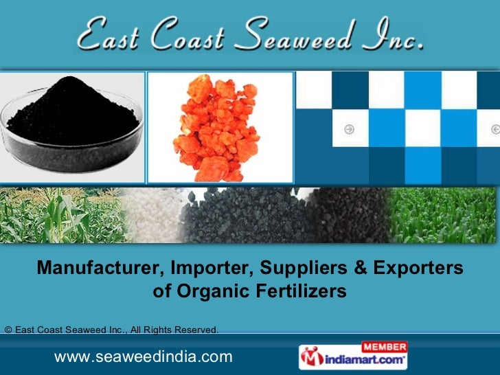Manufacturer, Importer, Suppliers & Exporters of Organic Fertilizers