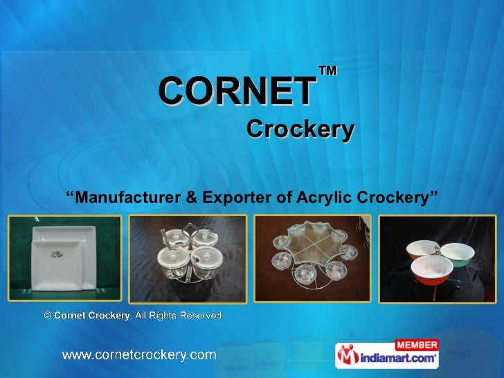 Cornet Crockery Delhi India