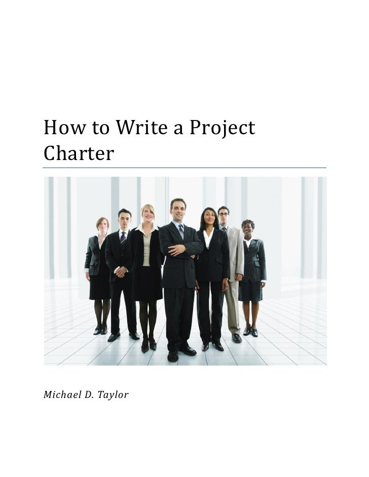 Article-How to Write a Project Charter