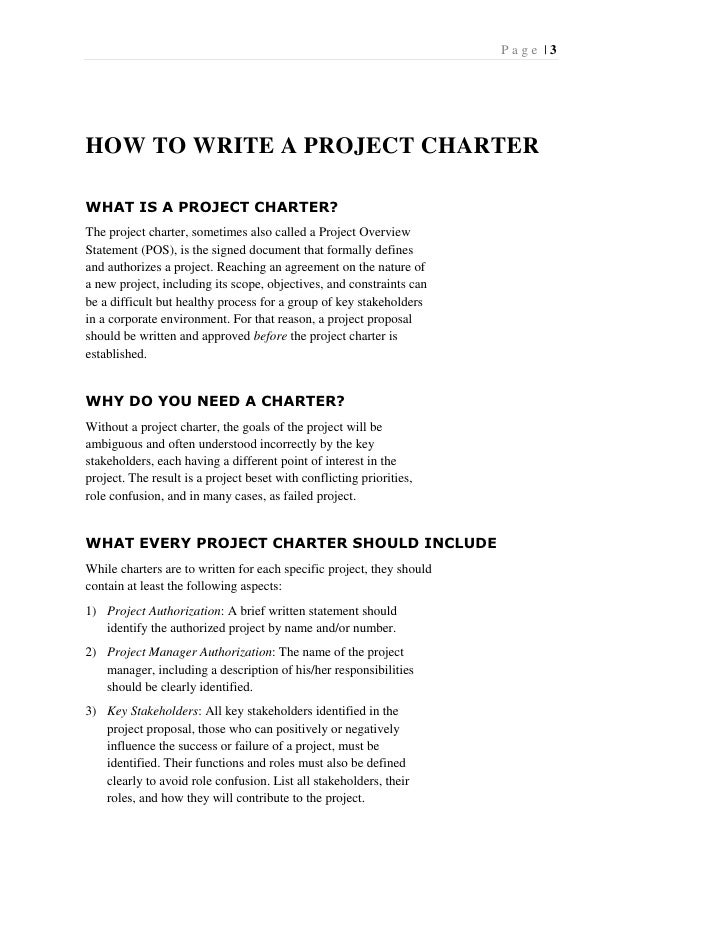 Tips for Writing a Project Charter