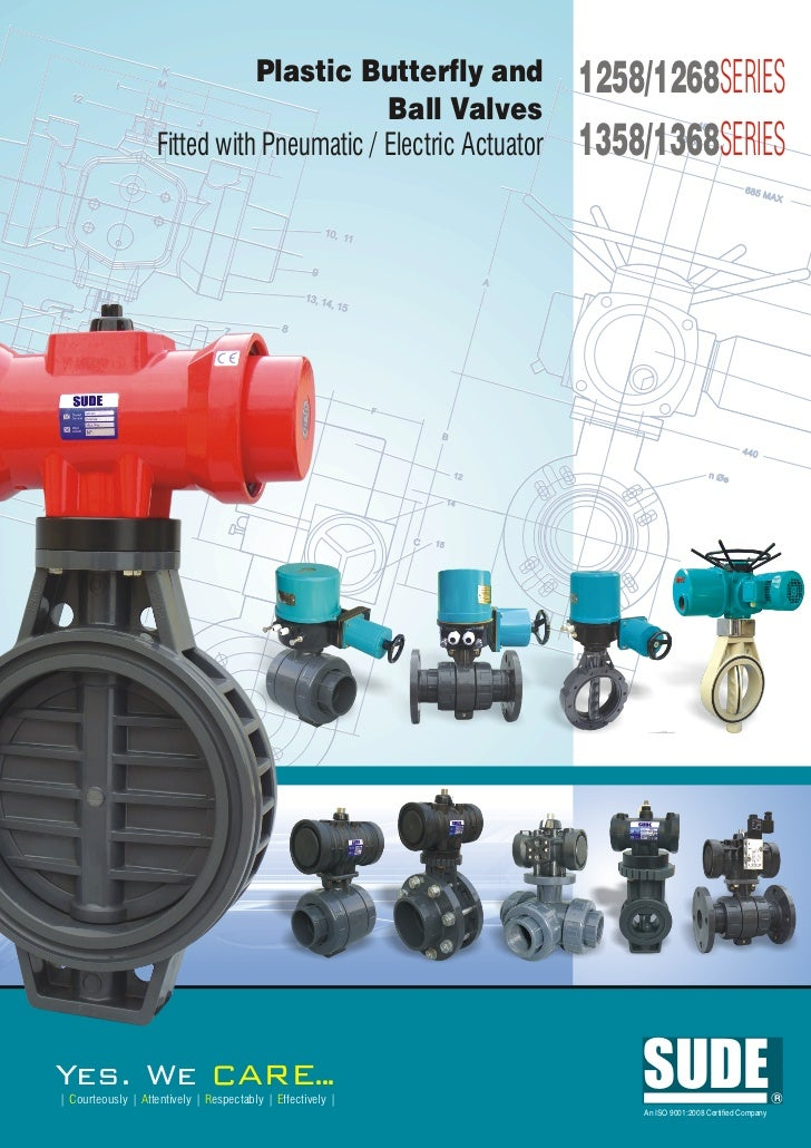 1268 plastic butterfly & ball valves with actuator