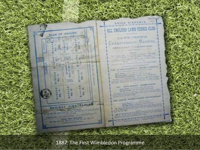 1887: The First Wimbledon Programme