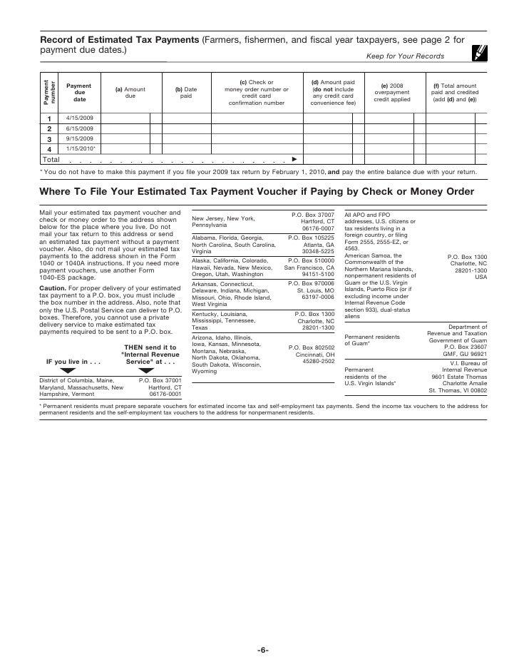 Worksheet 1040 Es Worksheet form 1040 es estimated tax for individuals 5 7