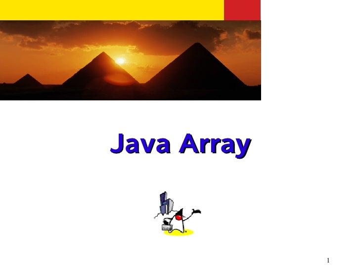 Java Array             1