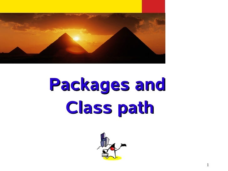 Packages and Class path               1