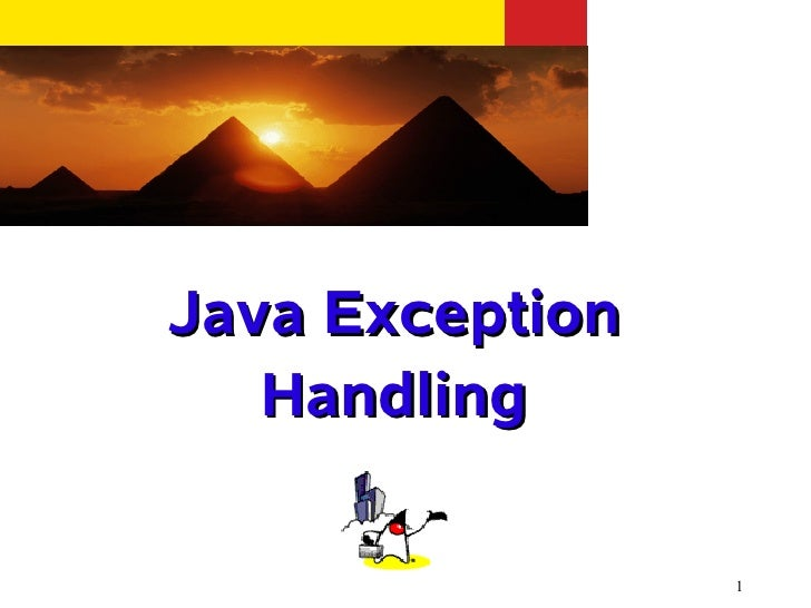 Java Exception   Handling                 1