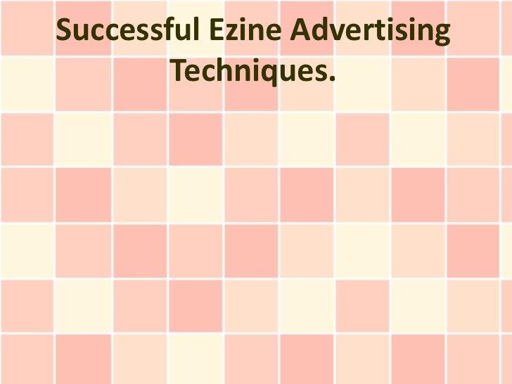 Successful Ezine Advertising Techniques.