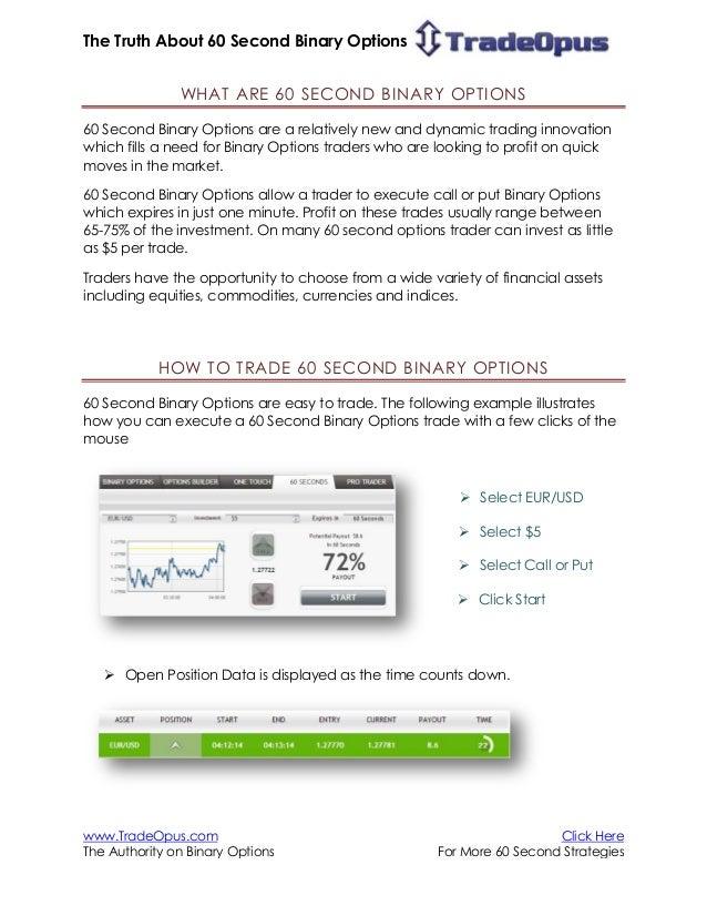 Binary option range strategy books winning 60 seconds trading