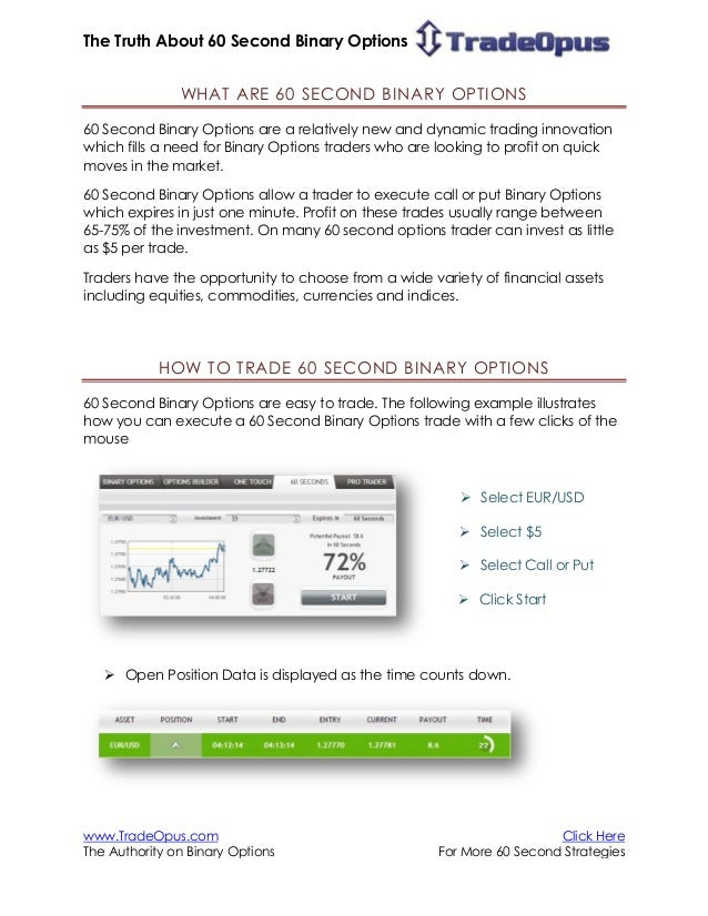 60 second binary options strategy the complete guide