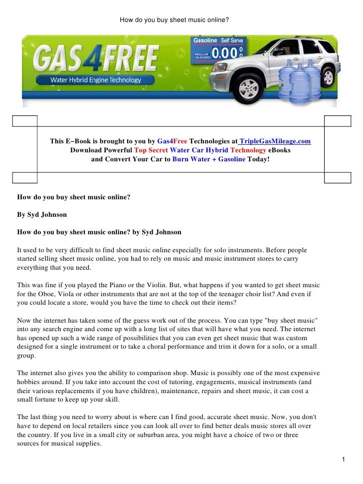 How do you buy sheet music online- (ebook)