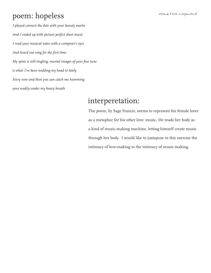 poem: hopeless interperetation:
