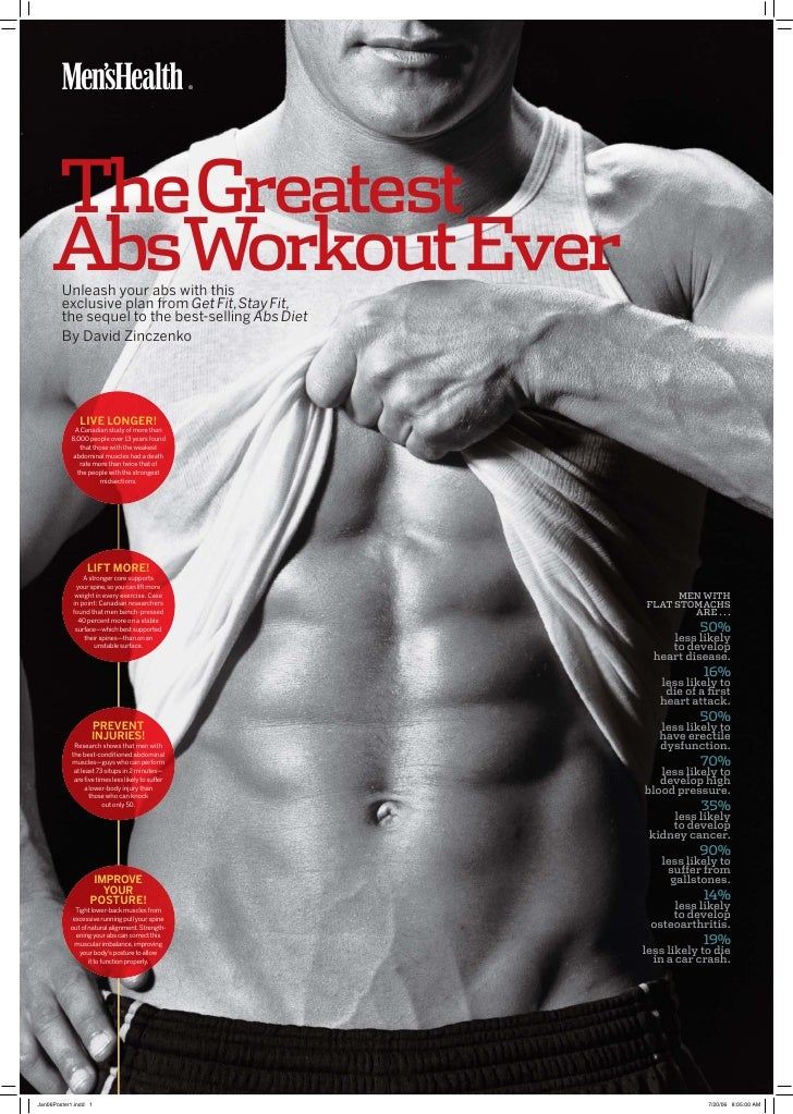 M                                       ®     TheGreatest AbsWorkout Ever Unleash your abs with this exclusive plan from G...