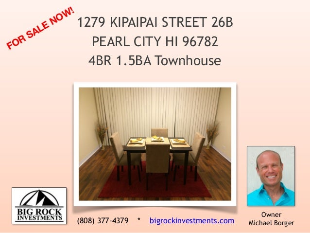 1279 Kipaipai Street #26B, Pearl City, Hawaii - Renovated 4BR Townhouse for Sale!