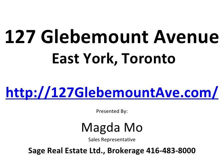 127 Glebemount Ave