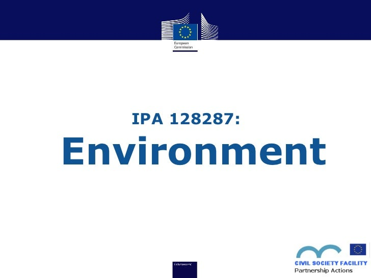 Closing Conference for IPA 128287 - Partnership Actions on Environment