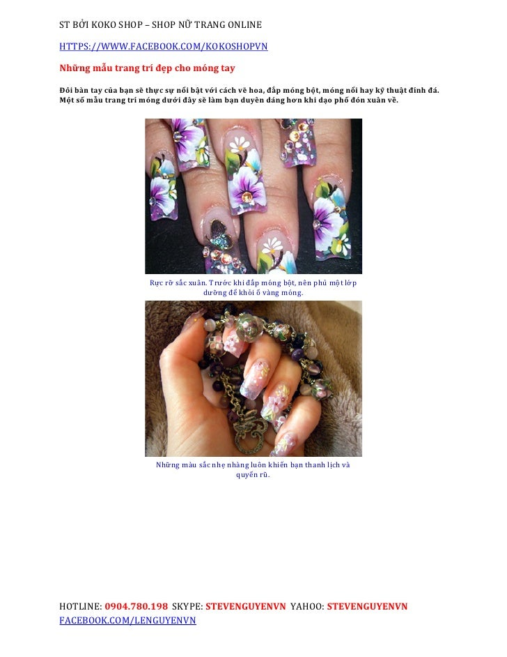 ST BỞI KOKO SHOP – SHOP NỮ TRANG ONLINEHTTPS://WWW.FACEBOOK.COM/KOKOSHOPVNNhững mẫu trang trí đẹp cho móng tayĐôi bàn tay ...