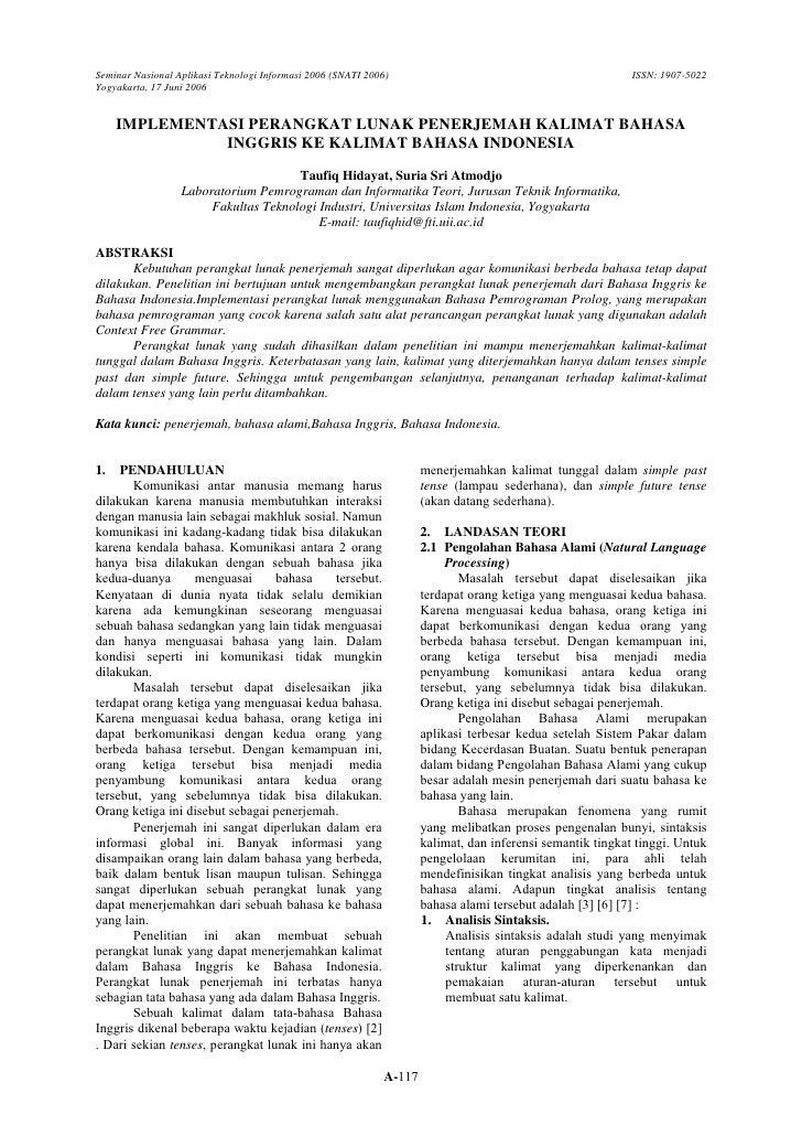 Seminar Nasional Aplikasi Teknologi Informasi 2006 (SNATI 2006)                                             ISSN: 1907-502...