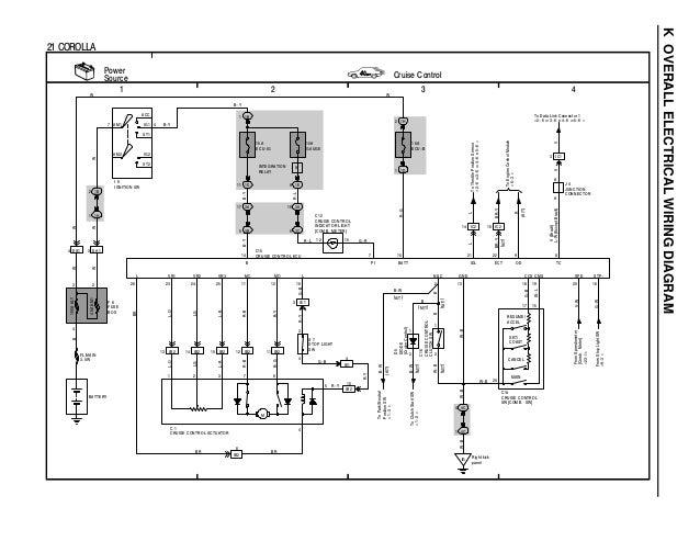 C toyota coralla wiring diagram overall