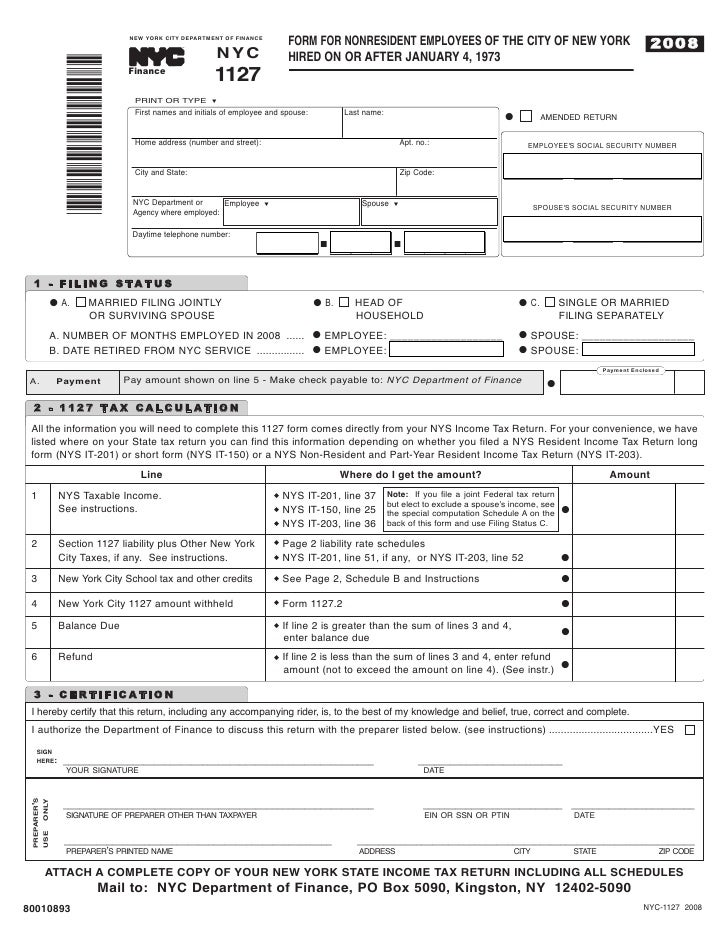 28+ New York City Tax Forms | Claim For New York City School Tax ...