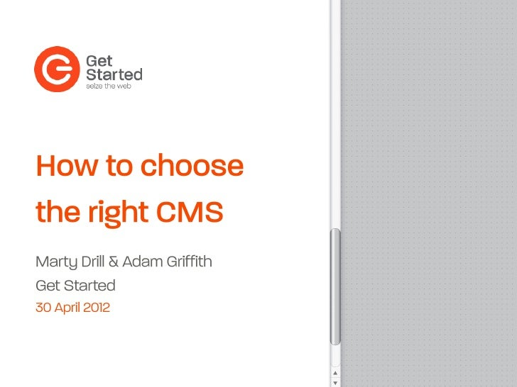 How to choose the right CMS (content management system)