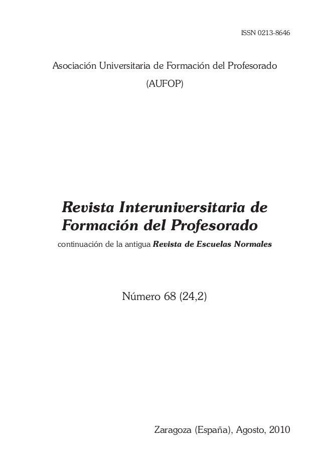 ISSN 0213-8646Asociación Universitaria de Formación del Profesorado                       (AUFOP)  Revista Interuniversita...