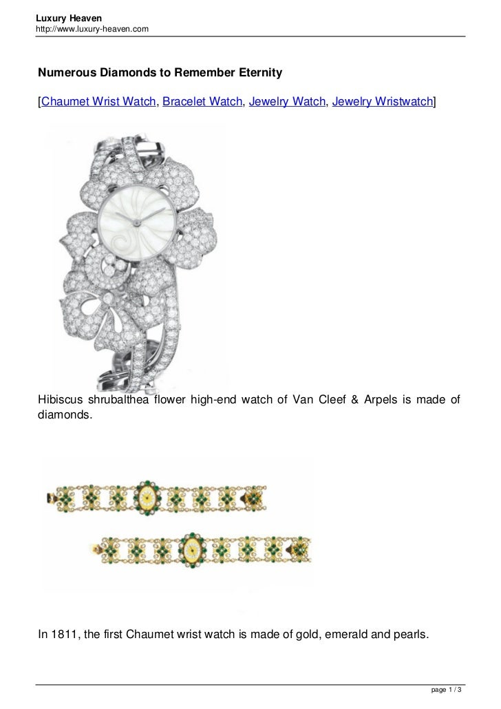 Luxury Heavenhttp://www.luxury-heaven.comNumerous Diamonds to Remember Eternity[Chaumet Wrist Watch, Bracelet Watch, Jewel...