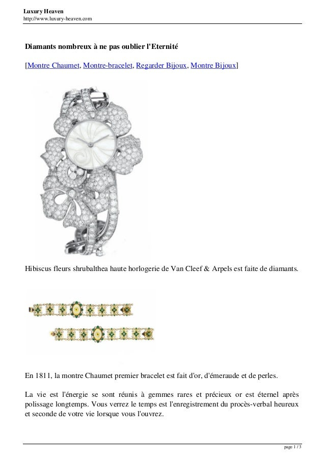 Luxury Heaven http://www.luxury-heaven.com Diamants nombreux à ne pas oublier l'Eternité [Montre Chaumet, Montre-bracelet,...