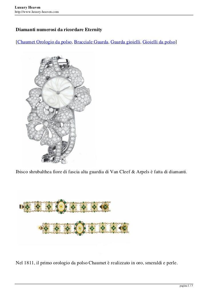 Luxury Heavenhttp://www.luxury-heaven.comDiamanti numerosi da ricordare Eternity[Chaumet Orologio da polso, Bracciale Guar...