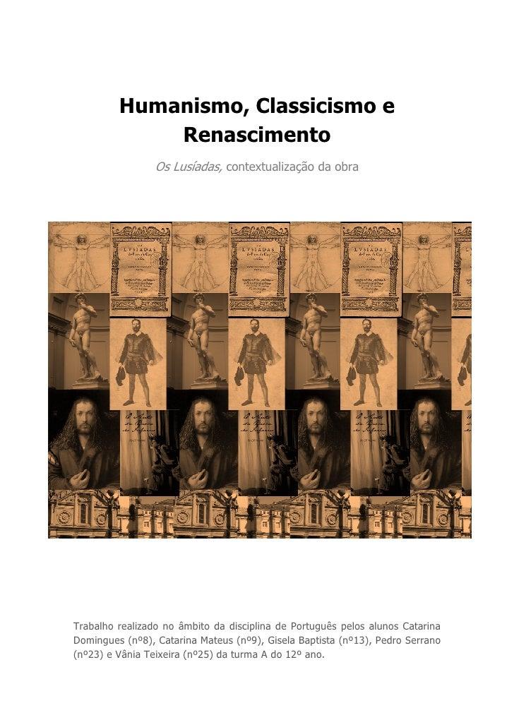 Renascimento, Classicismo e Humanismo