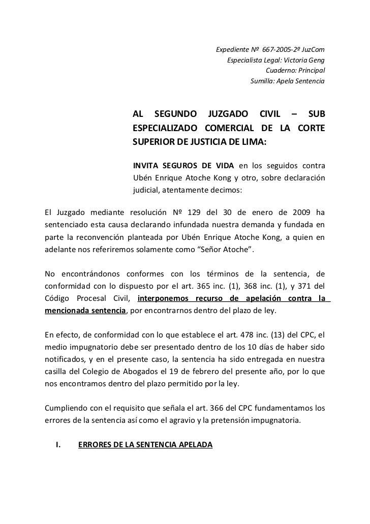 Expediente Nº 667-2005-2º JuzCom                                                   Especialista Legal: Victoria Geng      ...