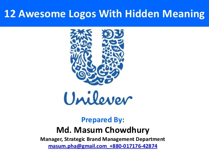 12 Awesome Logos With Hidden Meaning                     Prepared By:           Md. Masum Chowdhury      Manager, Strategi...