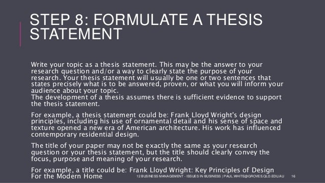 formula for a good thesis statement Online writing lab thesis statements a thesis statement is one of the most important elements of any successful essay a thesis statement controls.