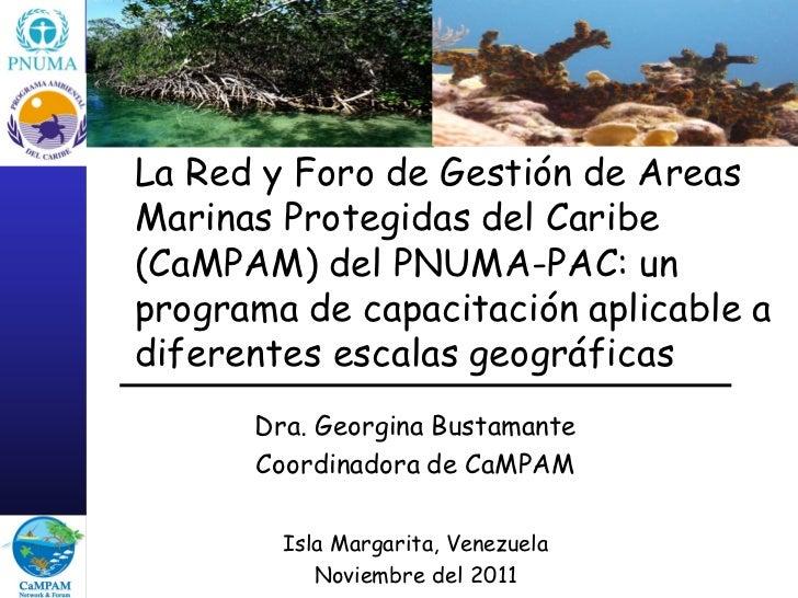 La red y foro de gestión de áreas marinas protegidas del Caribe (CAMPAM) del PNUMA-PAC: un programa de capacitación aplicable a diferentes escalas geográficas (2011)