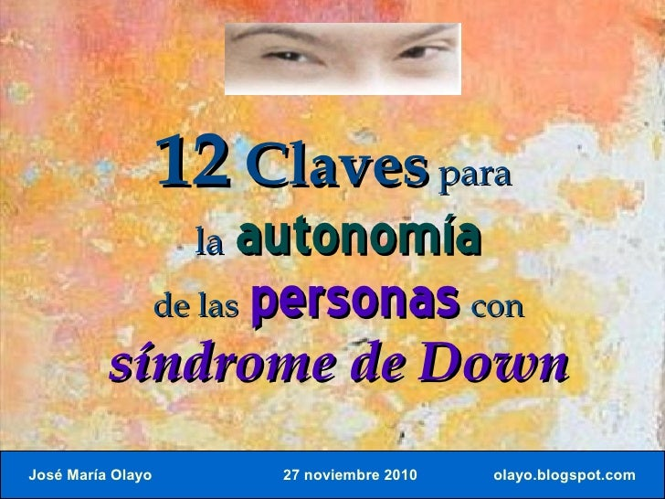 12 claves. síndrome down.