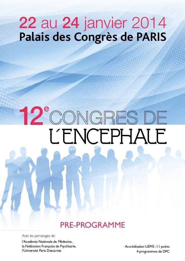 12º Congrès de l'Encephale