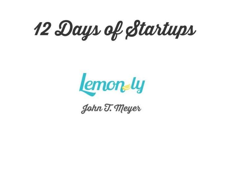 12 Days of Startups
