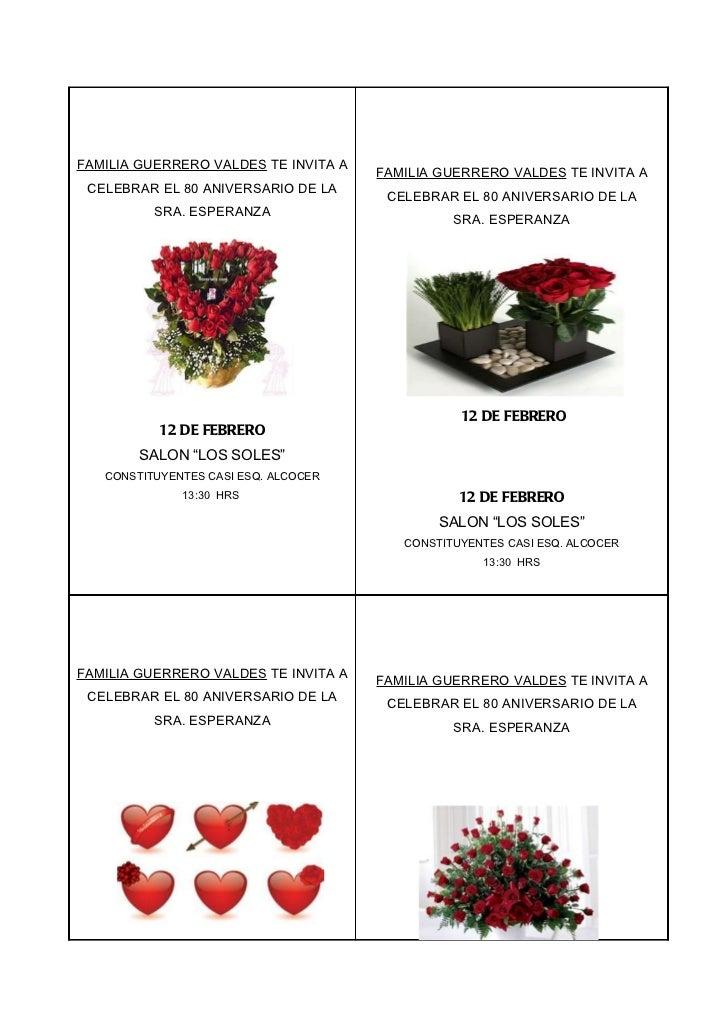 FAMILIA GUERRERO VALDES TE INVITA A                                      FAMILIA GUERRERO VALDES TE INVITA A CELEBRAR EL 8...