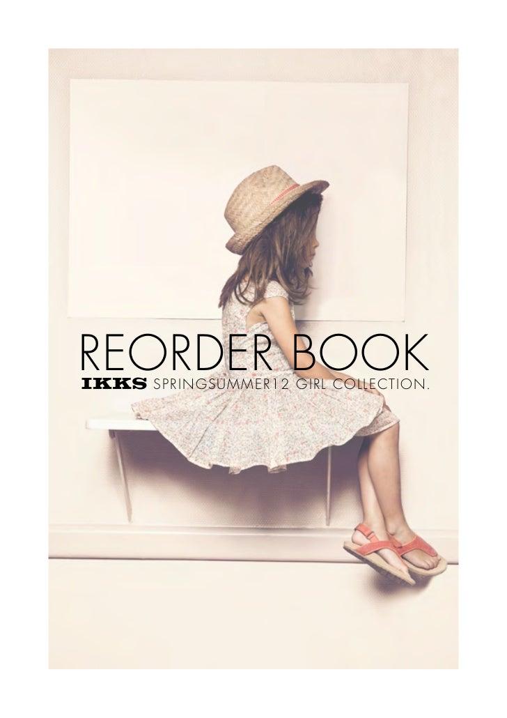 REORDER BOOK  SPRIN GSUMMER12 GI RL COLLECTI ON.