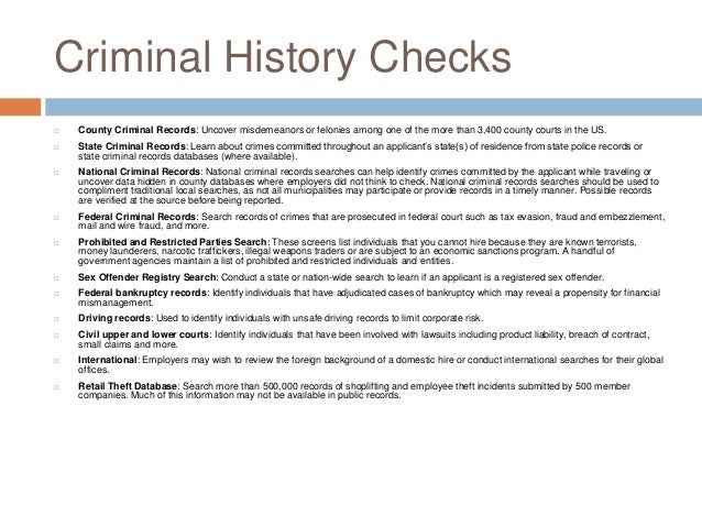 Classification of Crimes in the United States