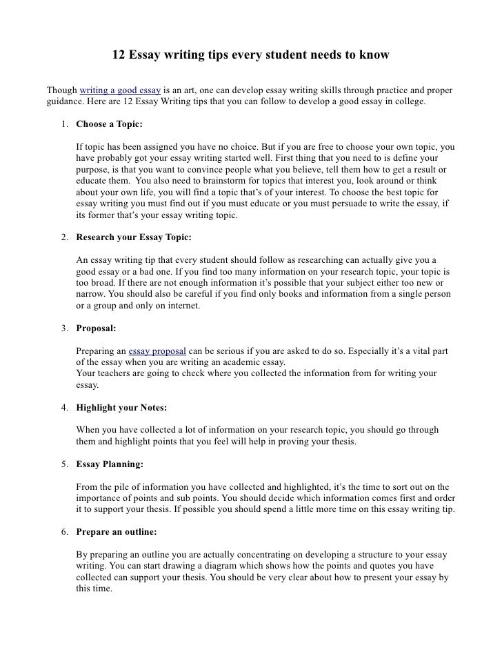 improve essay writing tips