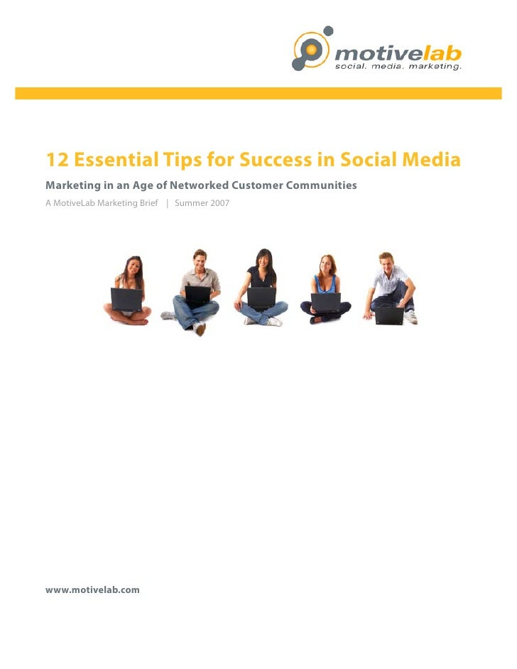 motive lab   Putat Veliqui                                  Social Marketing Group     12 Essential Tips for Success in So...