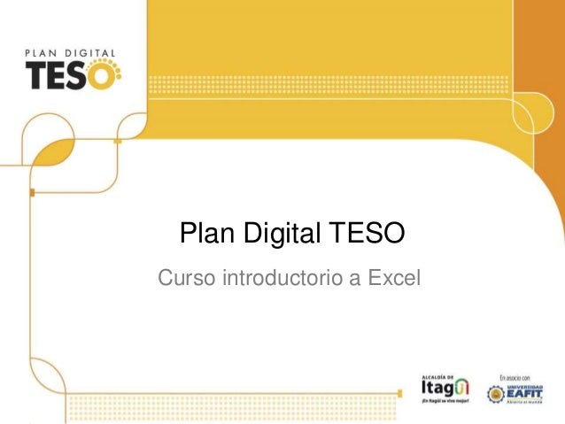 Curso introductorio a Excel Plan Digital TESO