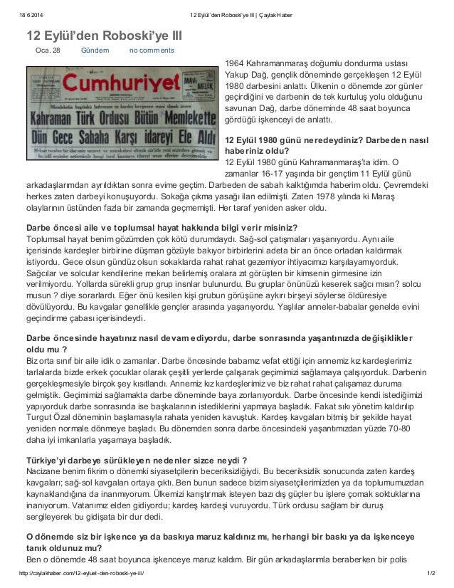 18 6 2014 12 Eylül'den Roboski'ye III | ÇaylakHaber http://caylakhaber.com/12-eyluel-den-roboski-ye-iii/ 1/2 12 Eylül'den ...