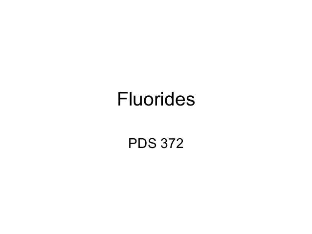 Fluorides PDS 372