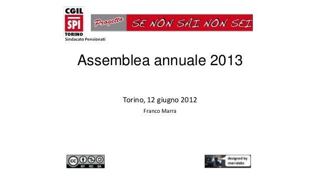 Assemblea annuale 2013Torino, 12 giugno 2012Franco Marra