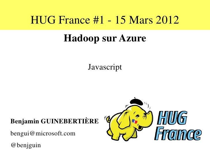 Hadoop on Azure