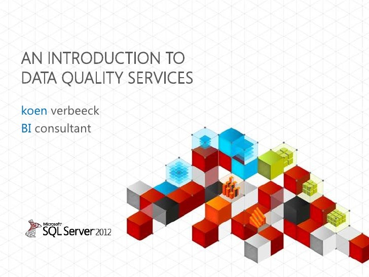 An introduction to Data Quality Services (DQS)